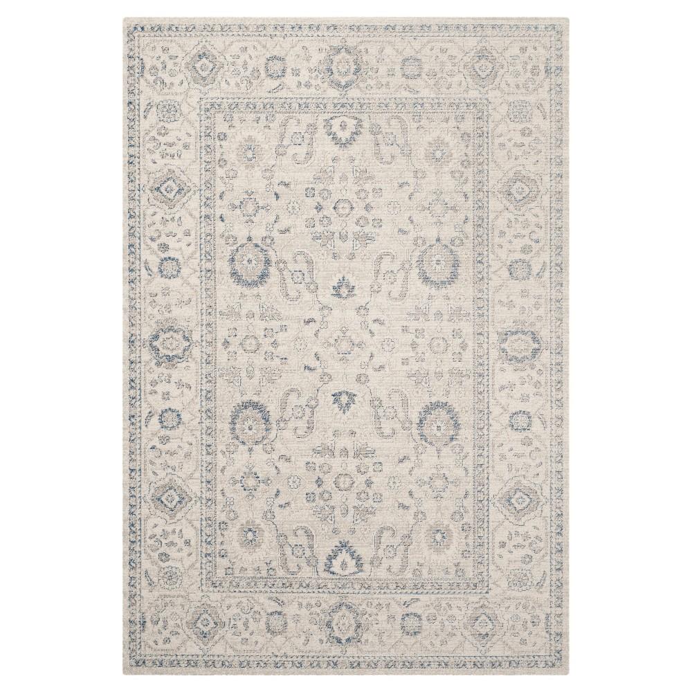 Oliver Zero Pile Area Rug - Light Gray / Ivory ( 5' 1