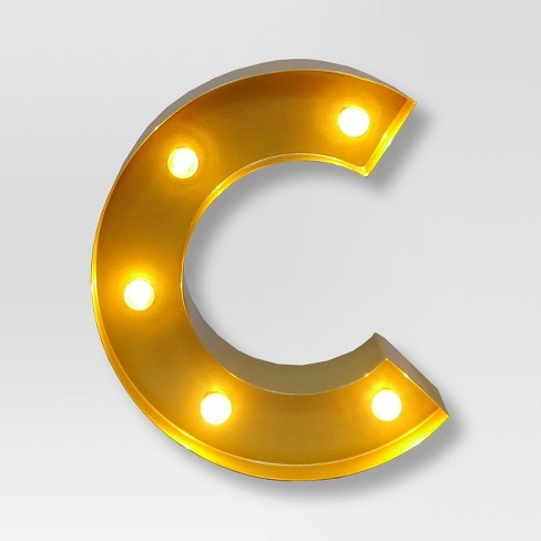 Marquee Letter Light Brass C   Threshold™ : Target
