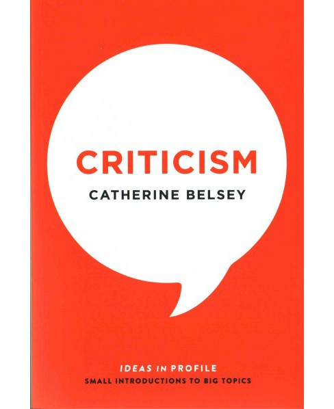 Criticism (Paperback) (Catherine Belsey) - image 1 of 1