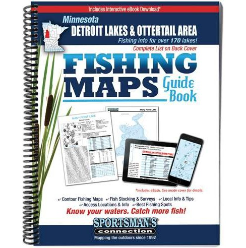 Minnesota Detroit Lakes & Ottertail Area Fishing Maps Guide Book (Paperback) - image 1 of 1