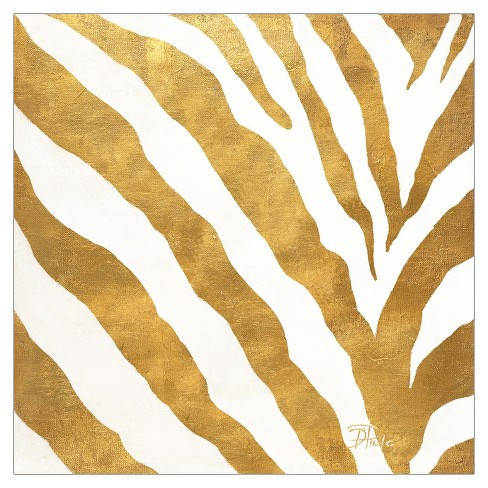 Gold Contemporary Zebra (gold foil) by Patricia Pinto Unframed Wall Art Print - image 1 of 2