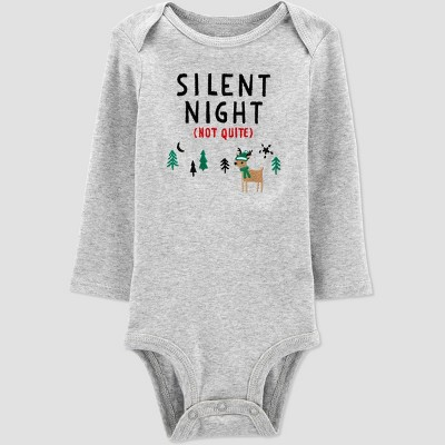 Baby Christmas 'Silent Night' Bodysuit - Just One You® made by carter's Gray