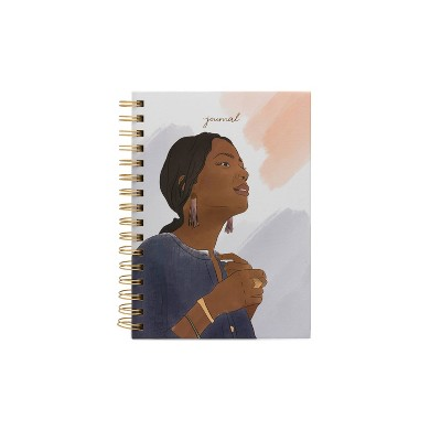 Twin Wire Lined Journal Spoonful of Faith Woman with Rings - DesignWorks Ink