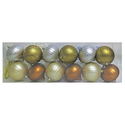 12ct Fashion Metallic Christmas Ornament Set - Wondershop™ - image 1 of 1