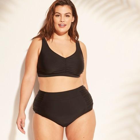 9795918f8cb4d Women's Plus Size Twist Back Bikini Top - Kona Sol™ : Target