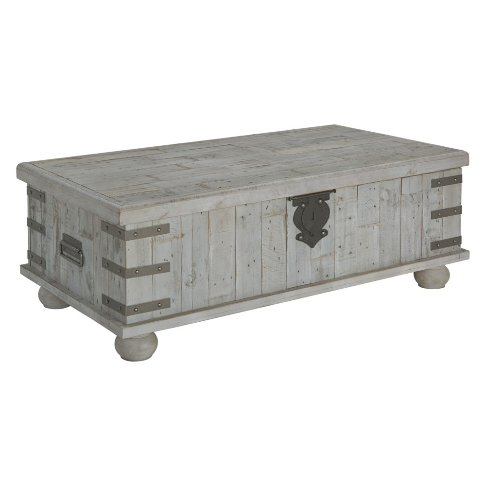 Carynhurst Lift Top Cocktail Table White - Signature Design by Ashley, Gray