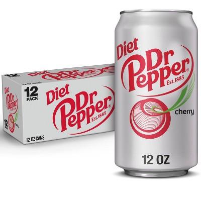 Diet Dr Pepper Cherry Soda - 12pk/12 fl oz Cans