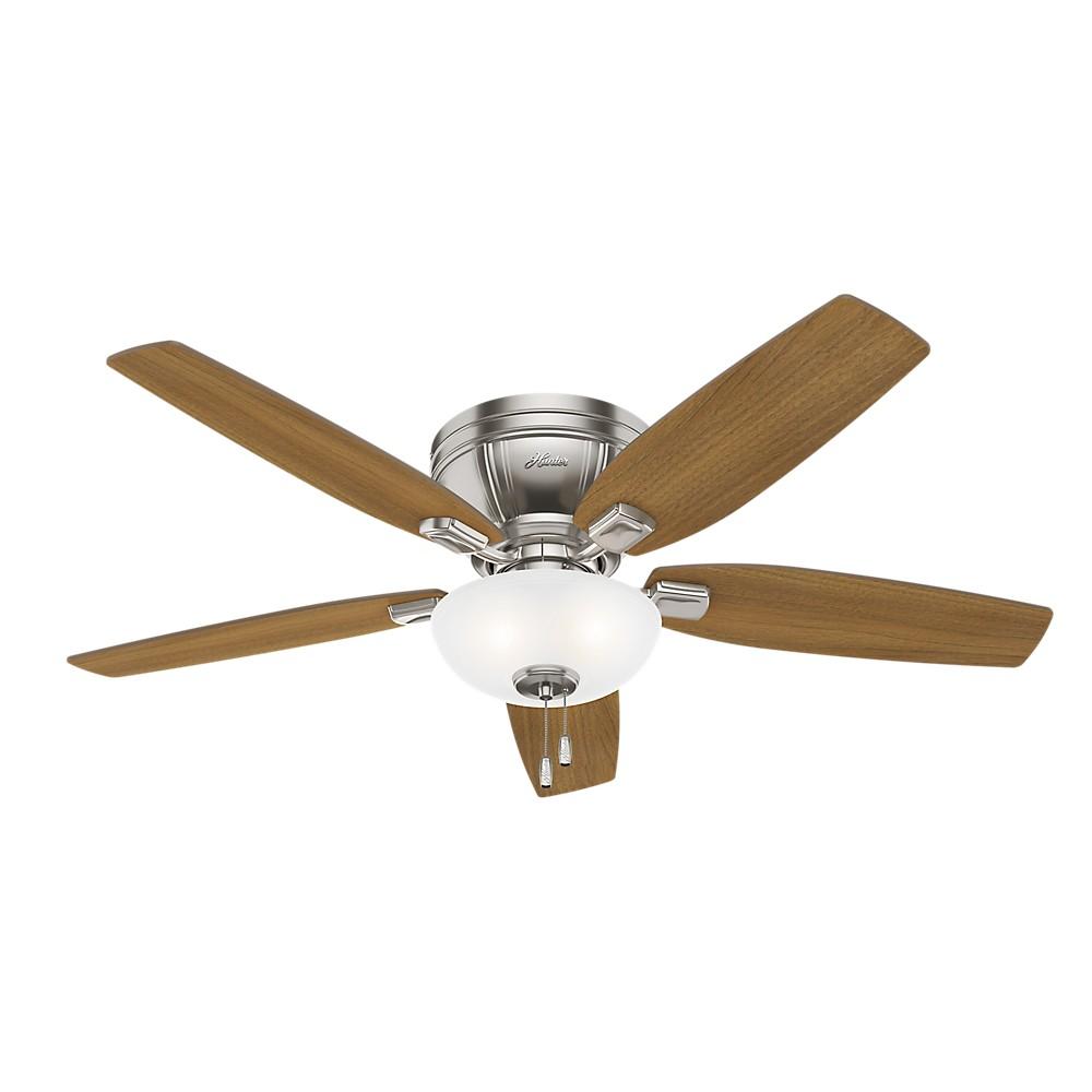 """Image of """"52"""""""" Kenbridge LED Lighted Ceiling Fan Brushed Nickel - Hunter Fan"""""""