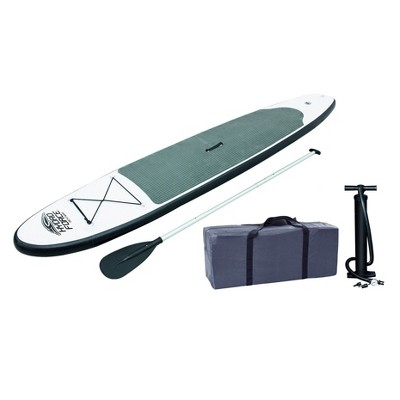 Bestway Inflatable Hydro-Force Wave Edge 10 Foot x 27 inches Stand Up Paddle Board with Non-Slip Deck, SUP Accessories, Inflation Pump and Travel Bag
