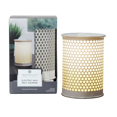 9  Electric Warmer Brushed Metal Gold - Home Scents By Chesapeake Bay Candle