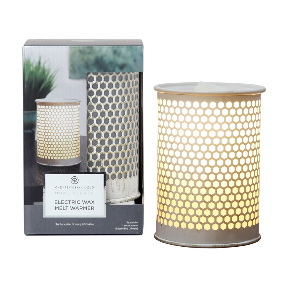 9 Electric Warmer Brushed Metal Gold - Home Scents By Chesapeake Bay Candle, White