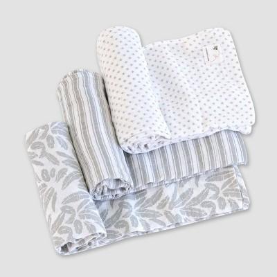 Burt's Bees Baby® Woven Muslin Blankets - 3pk Dottie Bee
