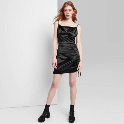 Women's Satin Ruched Slip Dress - Wild Fable™
