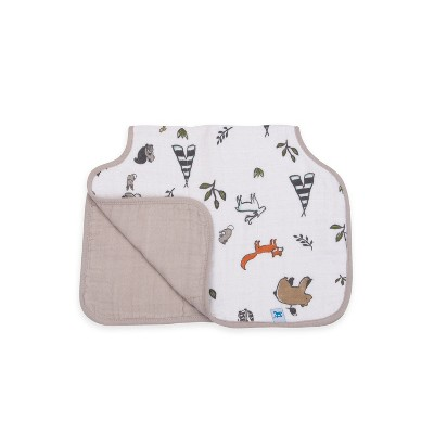 Little Unicorn Cotton Muslin Burp Cloth - Forest Friends