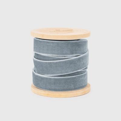 """5/8"""" Slate Blue Velvet Ribbon - Sugar Paper™"""