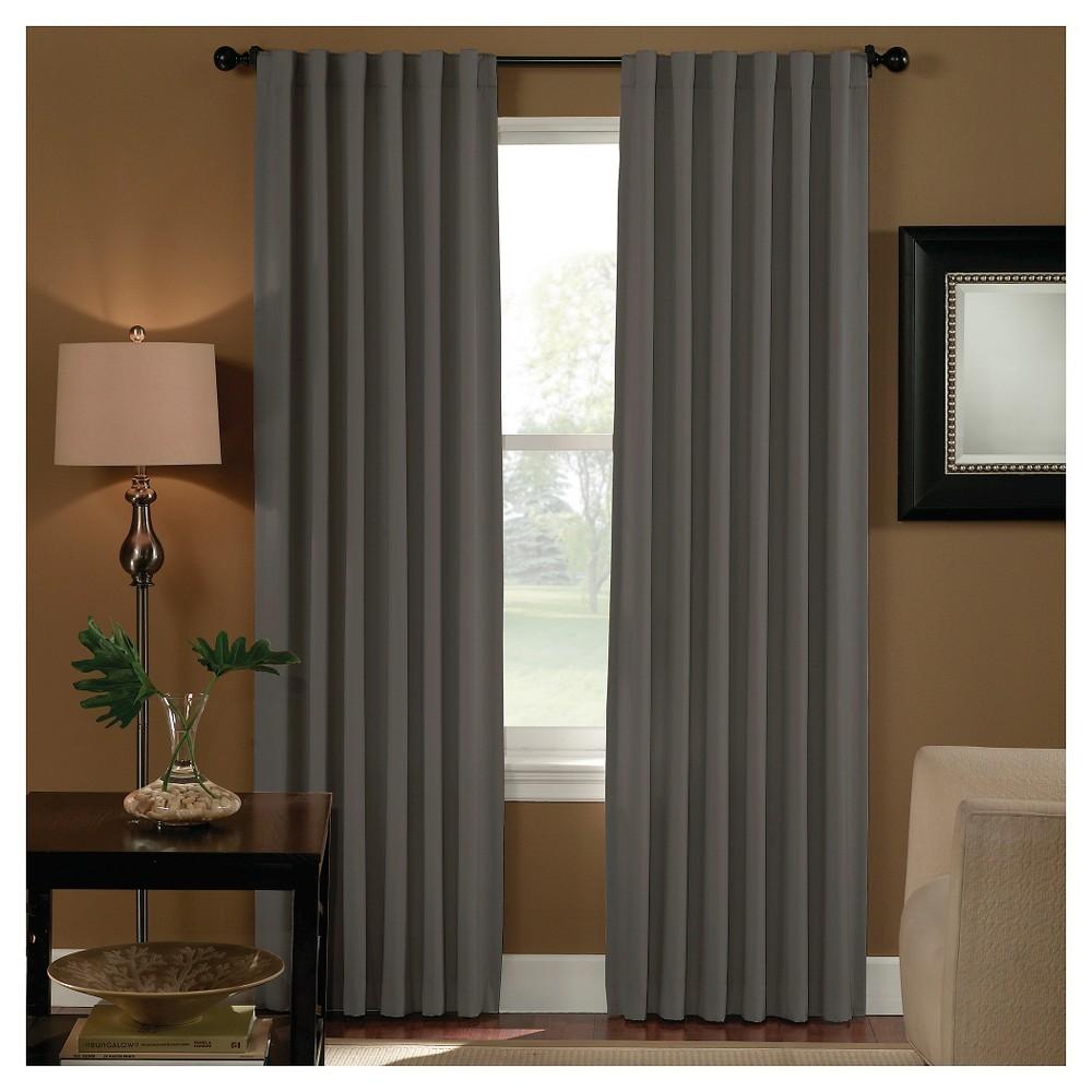 Curtainworks Saville Back Tab Room Darkening Curtain Panel - Gray (95)