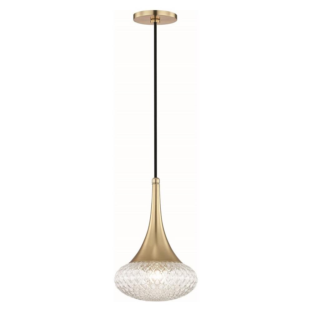 1pc Bella Light Pendant Style C Brass - Mitzi by Hudson Valley