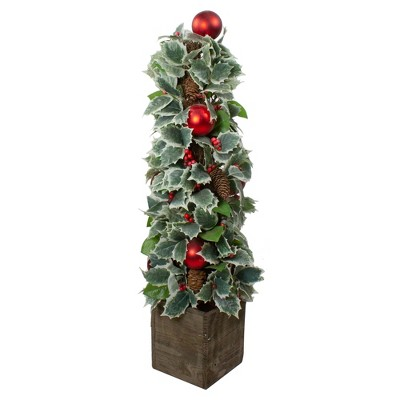 Allstate Floral 2.75' Unlit Artificial Christmas Tree Holly Potted Pine Cone and Berry
