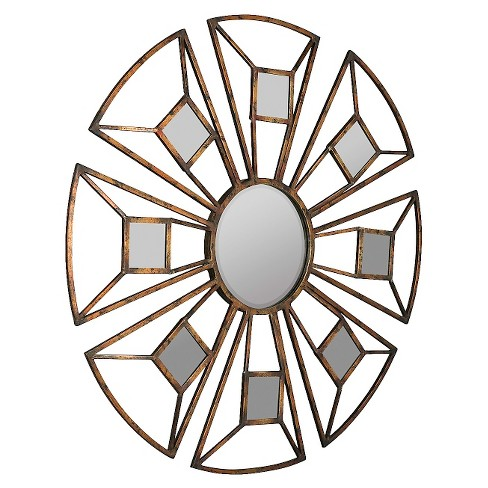 Round Nena Decorative Wall Mirror Copper - Cooper Classics - image 1 of 1