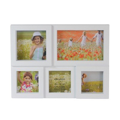 "Northlight 11.5"" White Multi-Sized Puzzled Collage Photo Picture Frame Wall Decoration"