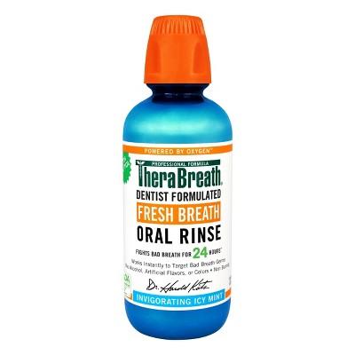 TheraBreath Fresh Breath Oral Rinse Icy Mint - 16 fl oz