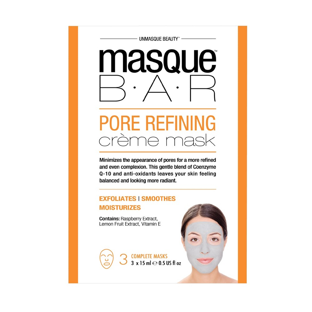 Masque Bar by Look Beauty Pore Refining Crème Mask 3ct