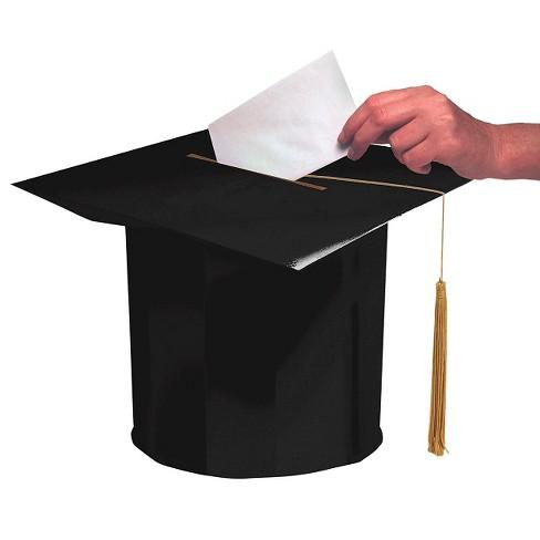 Black Graduation Cap Party Card Box Target