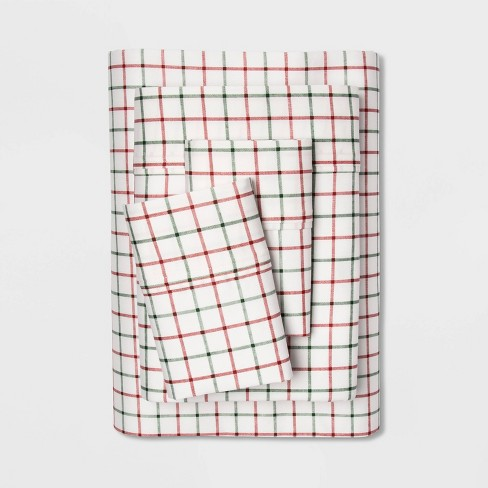 400 Thread Count Holiday Print Cotton Performance Sheet Set - Threshold™ - image 1 of 1