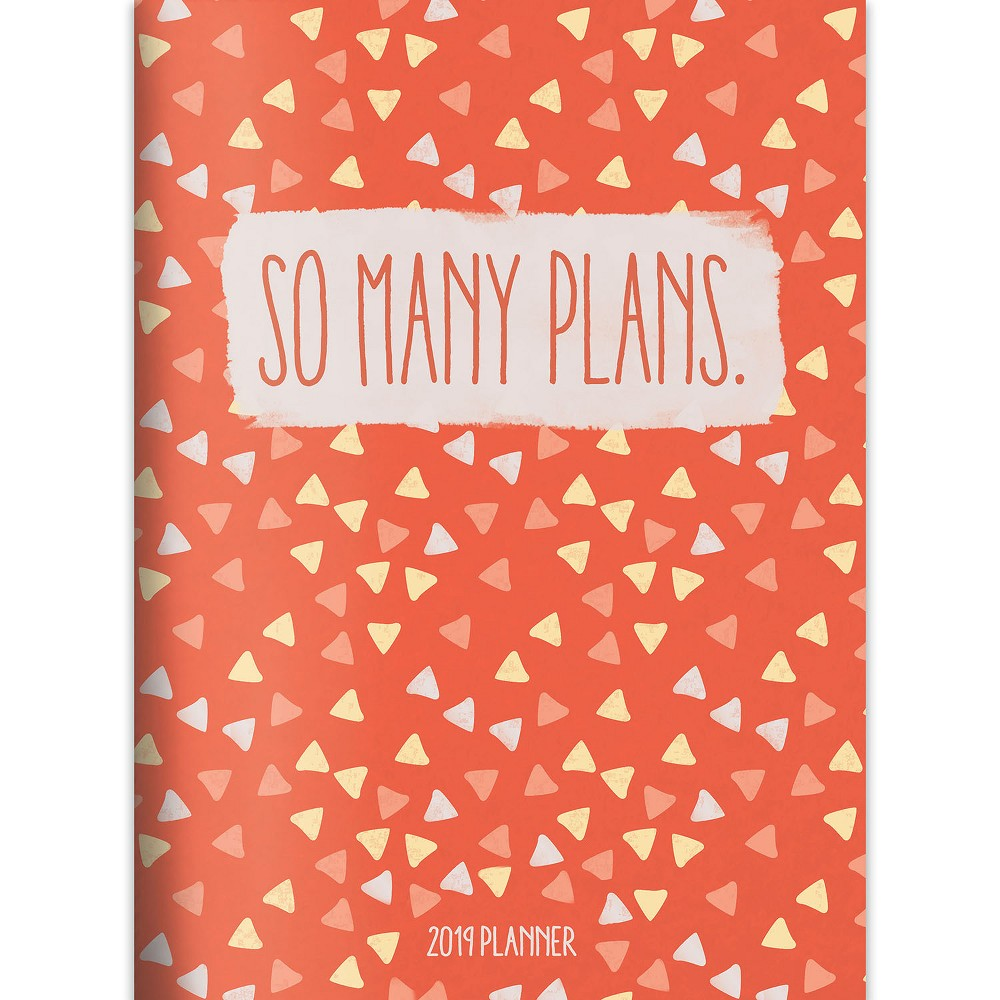 2019 Planner Orange Triangles - TF Publishing