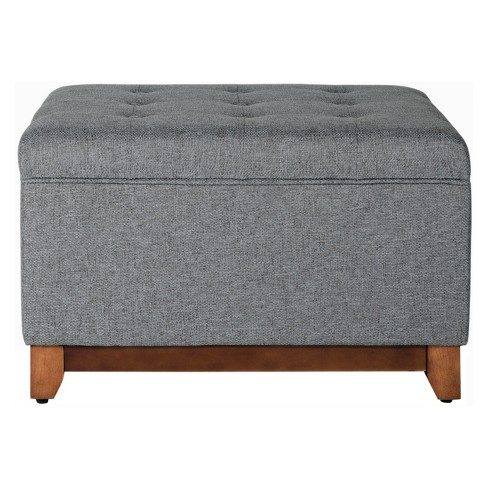 Storage Bench Charcoal - HomePop - image 1 of 4