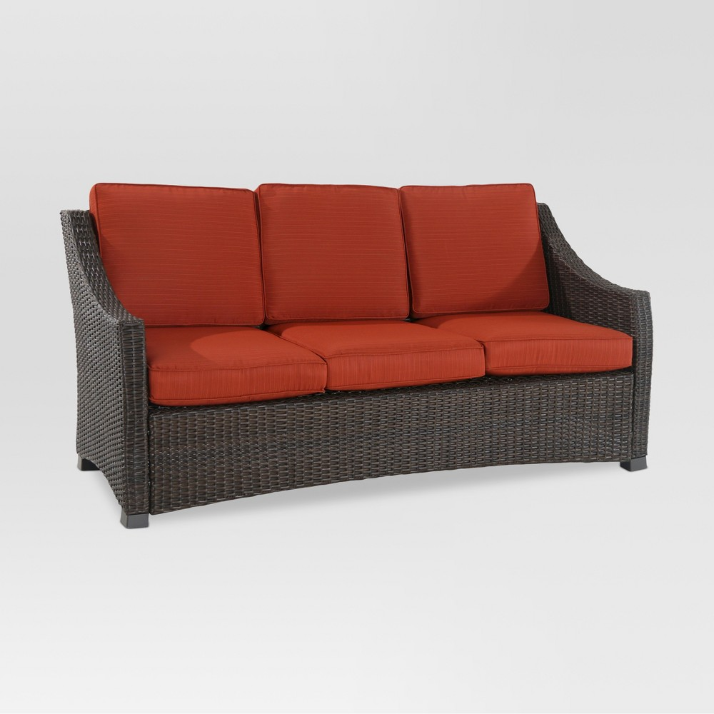 Miraculous Belvedere Wicker Patio Sofa Orange Threshold Onthecornerstone Fun Painted Chair Ideas Images Onthecornerstoneorg