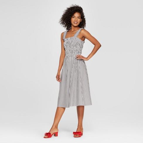 Womens Striped Smocked Tank Midi Dress Who What Wear Target
