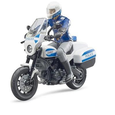 Bruder bworld Scrambler Ducati Police Motorbike with Policeman