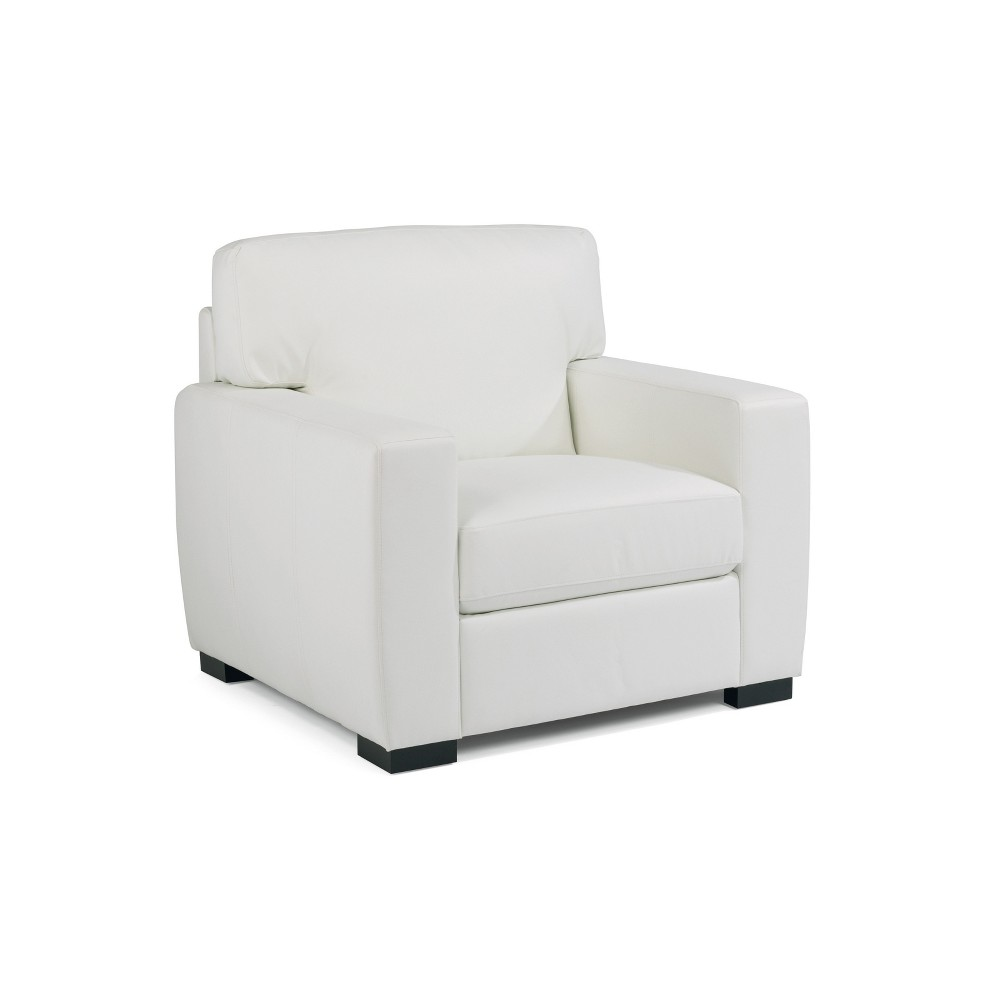 Erin Upholstered Contemporary Chair Ivory - Home Styles, White