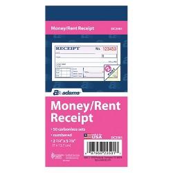 50ct Adams Numbered Money/Rent Receipt Book