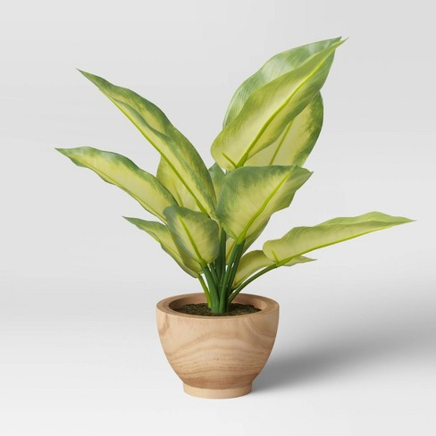 """15"""" x 12"""" Artificial Verigated Leaf House Plant in Pot - Threshold™ - image 1 of 4"""