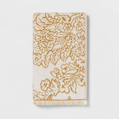 Traditional Floral Hand Towel Yellow - Threshold™