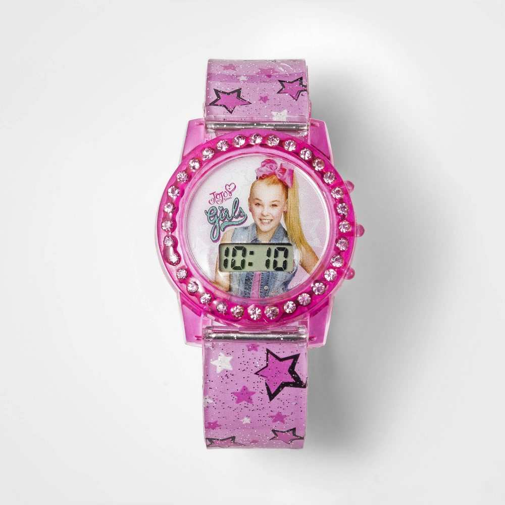Girls' Nickelodeon JoJo Siwa Flashing Lcd Watch - Pink