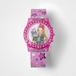 Girls' Nickelodeon JoJo Siwa Flashing LCD Watch - Pink