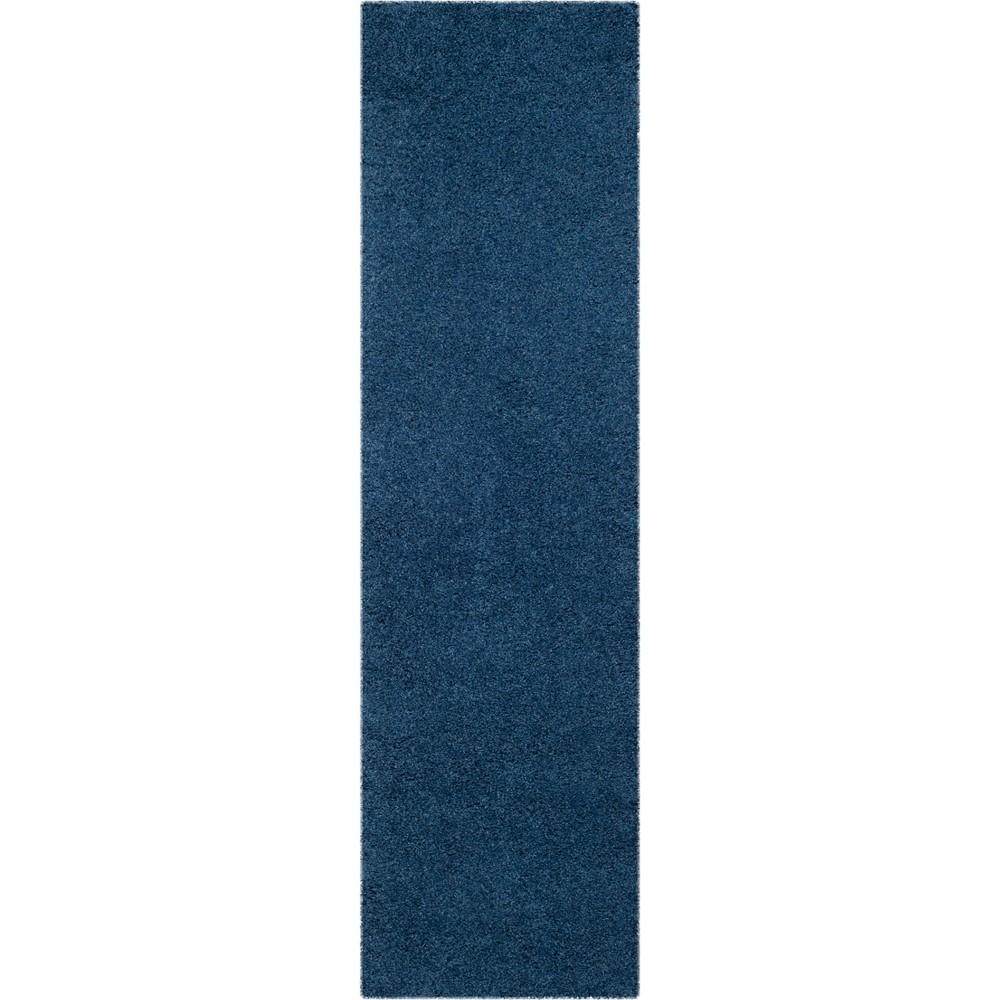 2'3X10' Solid Loomed Runner Blue/Light Gray - Safavieh