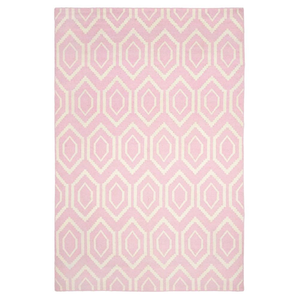 Promos Taza Dhurry Rug - Pink Ivory - (6x9) - Safavieh