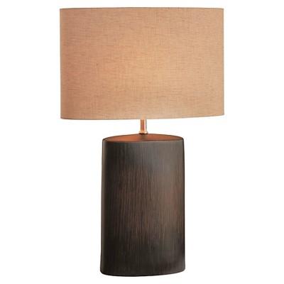 Narvel 1 Light Table Lamp Dark Walnut (Includes Energy Efficient Light Bulb)- Lite Source