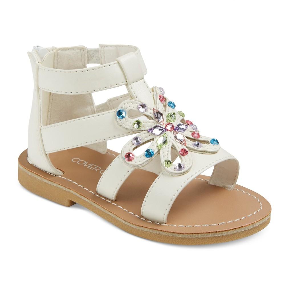 Toddler Girls' Covergirl Bailey Gladiator Sandals - White 8