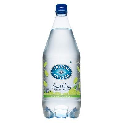 Crystal Geyser Lime Sparkling Water - 42.3 fl oz  Bottle