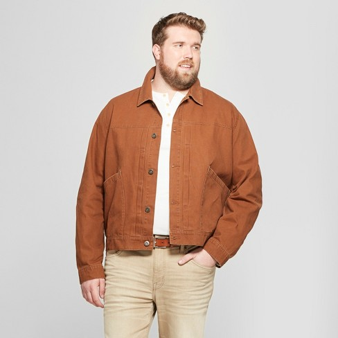 acada849541 Men's Big   Tall Trucker Jean Jacket - Goodfellow   Co™ Brown   Target