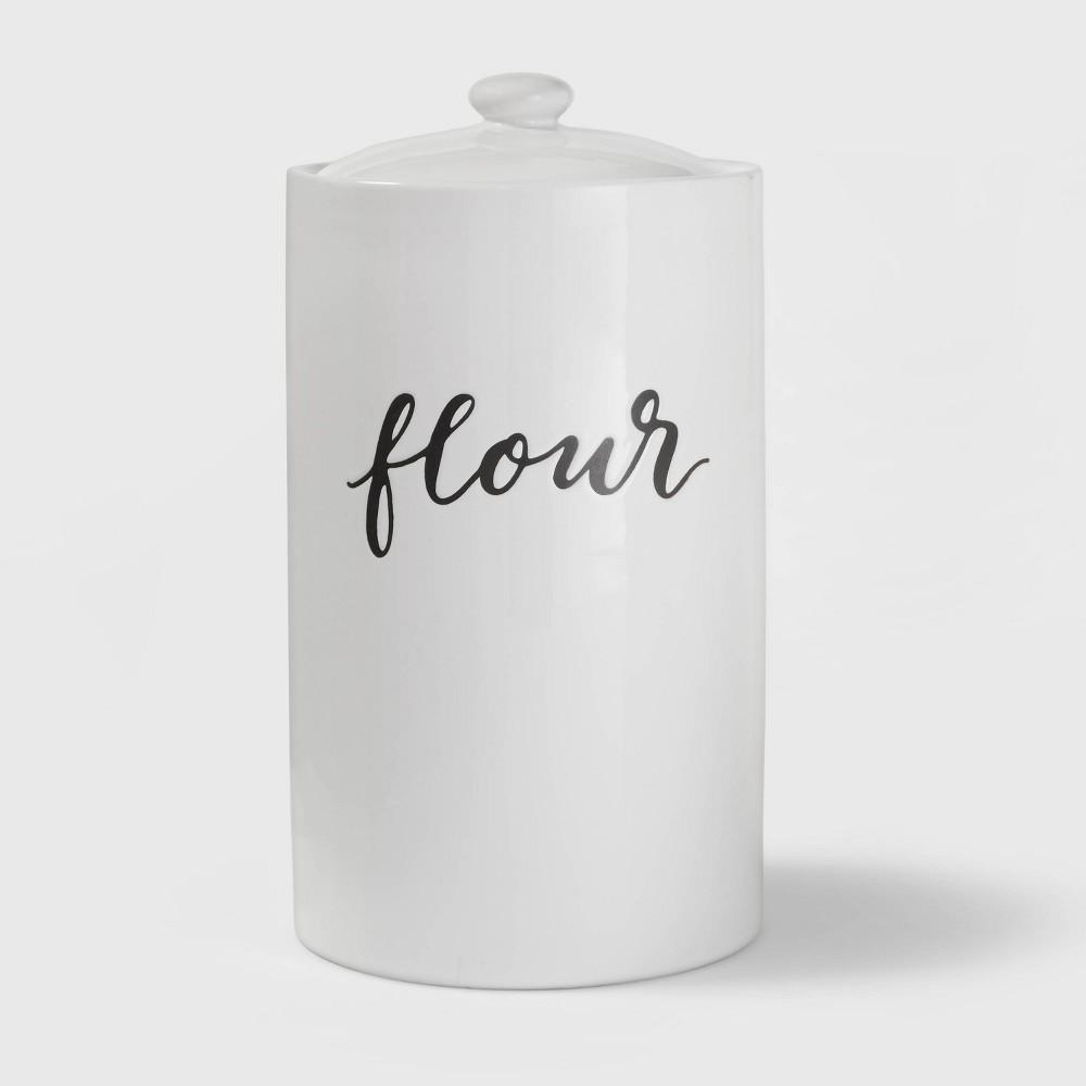 Flour Food Storage Canister White Threshold 8482