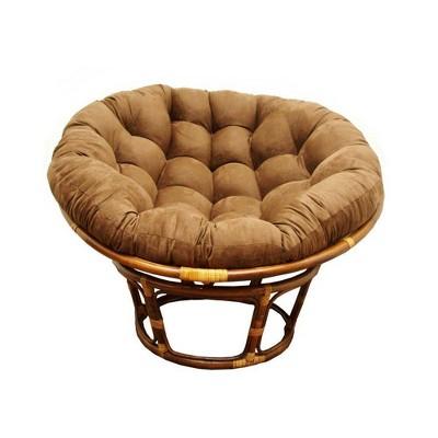 """42"""" Rattan Papasan Chair with Micro Suede Cushion - International Caravan"""