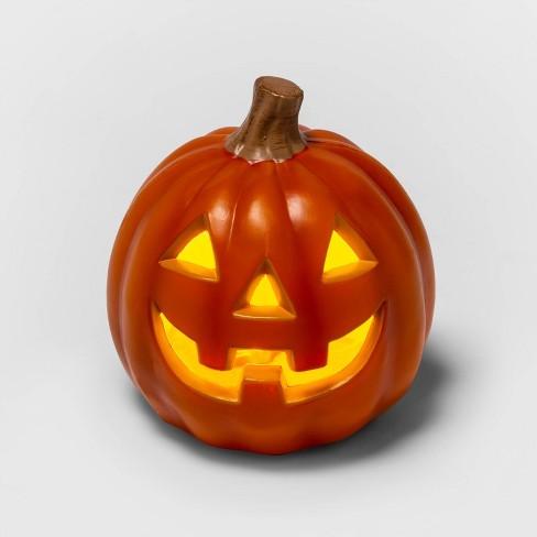 "5"" Light Up Orange Halloween Jack-O'-Lantern - Hyde & EEK! Boutique™ - image 1 of 3"