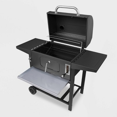 24  CD1824A Charcoal Grill with Side Shelves Black - Royal Gourmet