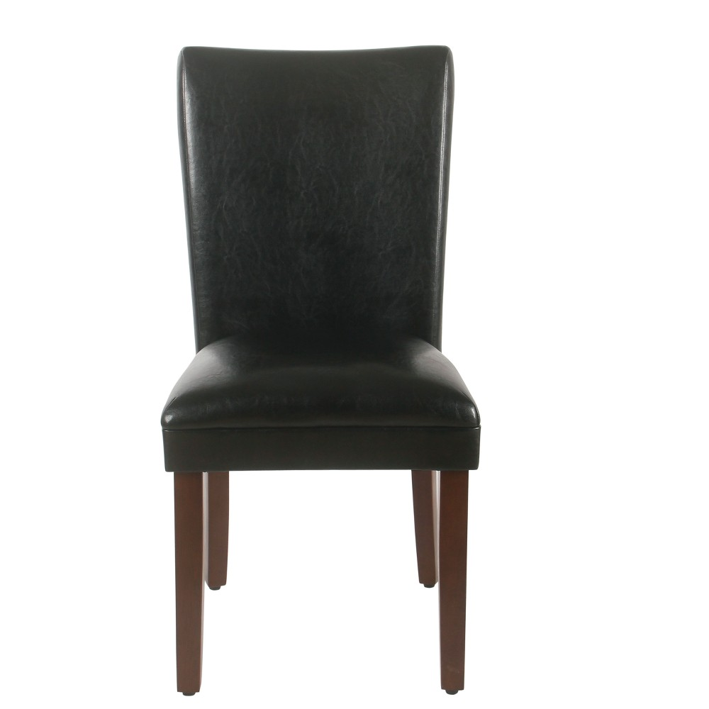 Set of 2 Parsons Dining Chair Black Faux Leather - Homepop was $179.99 now $134.99 (25.0% off)